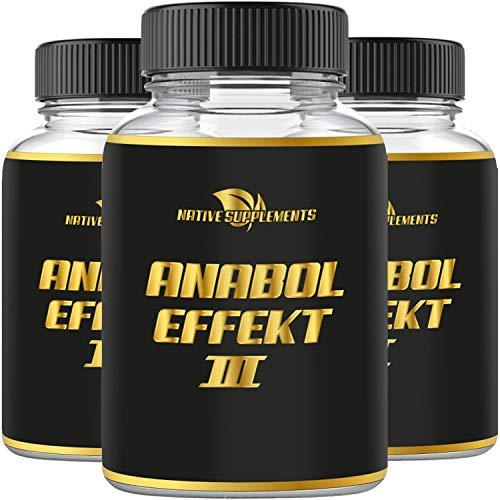Anabol Effect 3 – Muskelaufbau – Extrem Anabolika – stärkster Testosteron Booster – Pre Workout, Verbesserte Formel – Hochdosiert & Stark – Original Muskel Pump & Testo Komplex – Einführungspreis