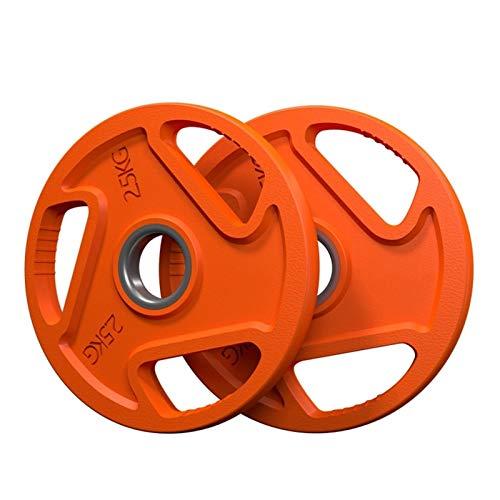 Ownlife 2.5kg / 5kg / 10kg / 15kg / 20kg Wettbewerb Gummi Fraktionierte Gewichtsplatten Fitness Gewichtsplatten für Hantel- oder Hantel-Set von 2 (Größe : 2.5kg×2)