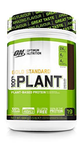 Optimum Nutrition ON Gold Standard 100% Plant, Vegan Protein Pulver mit Vitamin B12 und Vitamin C, Proteinpulver für Muskeln, Chocolate, 19 Portionen, 684 g