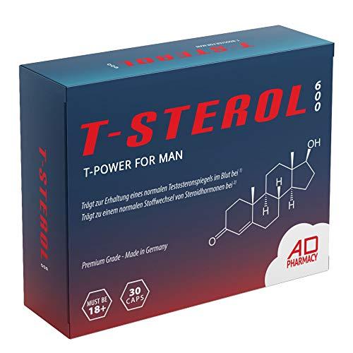 T-Power Komplex/Booster – T STEROL 600 The Original – Einführungspreis – Hochdosiert – Muskelaufbau Kapseln – Monatspackung – Made in Germany