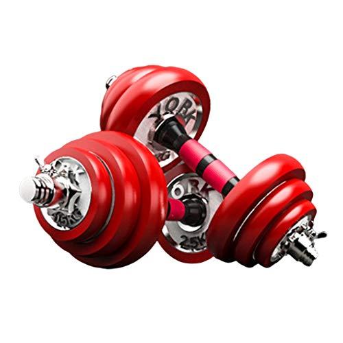Dumbbells Das galvanische Hantelset mit einstellbarem Gewicht und EIN Fitnessgerät mit Pleuel können als Langhantel verwendet Werden