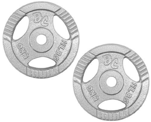 Bad Company Hantelscheiben Guss-Gripper 30/31mm – 10Kg (2×5) Hantelscheiben aus Guss mit Hammerschlag Lackierung