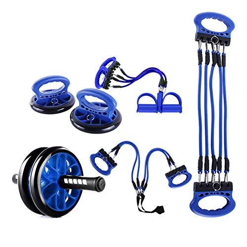 Jsmhh Fitness Kraftstationen, Multi-Functional Fitness Kombination Fügen Ab Roller Rad, Push-Up Unterstützung, Widerstand-Bänder Pedal Zugseil ZL52 sit up trainingsgert