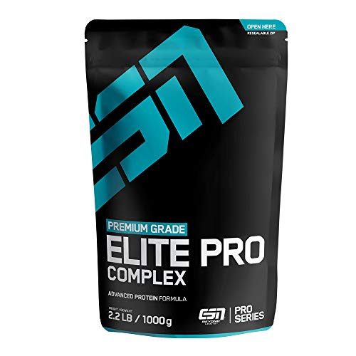 ESN Elite Pro Complex Protein – 1000g – Chocolate – Hochwertiges 4-Komponenten-Eiweißpulver mit wertvollen Aminosäuren – Cremig leckerer Geschmack – 33 Portionen –Made in Germany