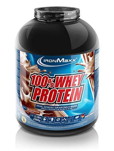 IronMaxx 100% Whey Protein – 2350g Dose – 47 Portionen – Milch-Schokolade – Hochwertiges Eiweißpulver für Proteinshake – Wasserlöslich – 36 leckere Geschmäcker – Designed in Germany