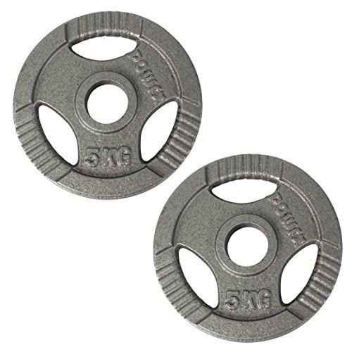 POWRX Olympia Gewicht Hantelscheiben 2,5-40 kg | 2er Set ideal für Kurzhanteln und Langhanteln mit Durchmesser 50 mm (5)