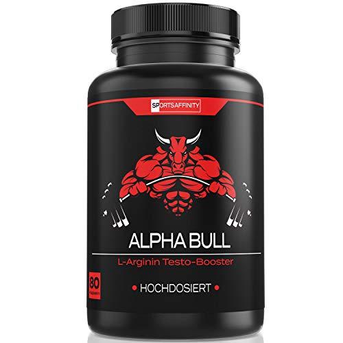 ALPHA BULL For Men [Hochdosiert] » Markenartikel Kur Beliebt im Bodybuilding, Gym und Muskelaufbau – Energie Booster für Männer « Fitness Sport Tabletten – in 80 Kapseln