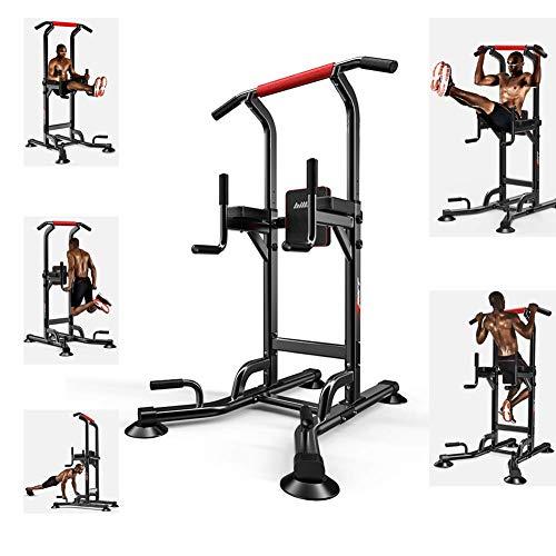 WYZXR Power Tower Parallel Bars Station Verstellbare Klimmzugstange Home Gym Krafttraining Workout Multifunktionsausrüstung