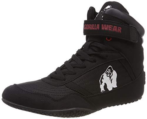 Gorilla Wear High Tops Black schwarz – Bodybuilding und Fitness Schuhe für Damen und Herren, EU 44