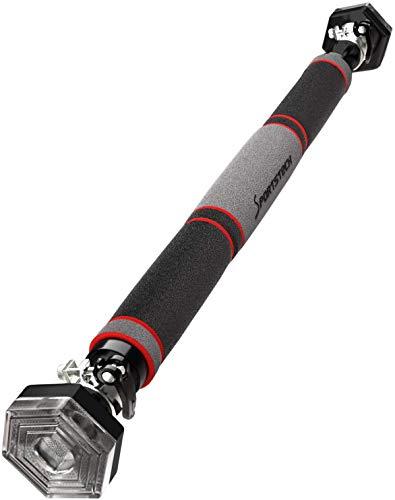Sportstech Klimmzugstange mit einzigartigem hexagonalem System KS200 – mit 3-Schichtpolsterung, Sicherheitsspannhebel, 6 Druckpunkten & außergewöhnlichem Design, Teleskopstange inkl. eBook