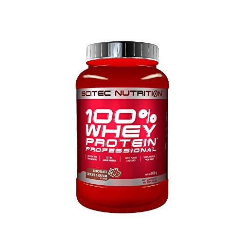Scitec Nutrition 100% Whey Protein Professional mit extra zusätzlichen Aminosäuren und Verdauungsenzymen, 920 g, Schokolade-Cookies & Cream