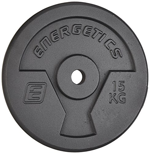 ENERGETICS Hantelscheibe Guss 10 kg, Schwarz