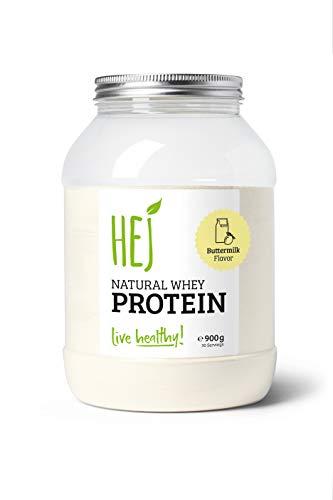 HEJ NATURAL WHEY PROTEIN   Buttermilk – 900g   Premium Protein   Eiweißpulver zum Muskelaufbau