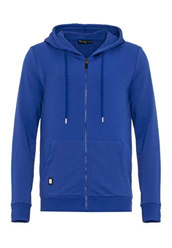 Redbridge Herren Sweatjacke Kapuzenpullover Zip Hoodie mit Reißverschluss Premium Basic Saxeblau XL
