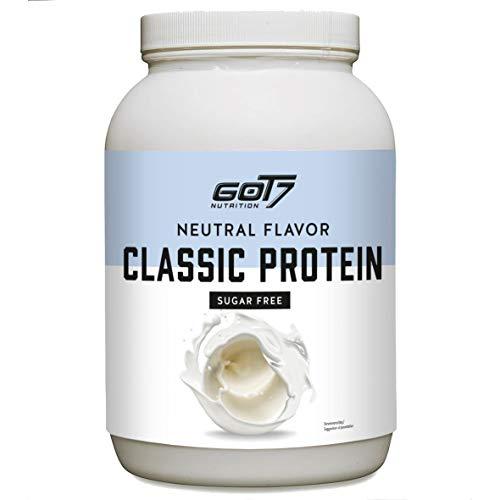 Got7 – Classic Protein Eiweiß Proteinshake Eiweißshake Whey Molkeprotein Muskelaufbau Fitness Kraftsport Bodybuilding – Natural Flavor – 1200g