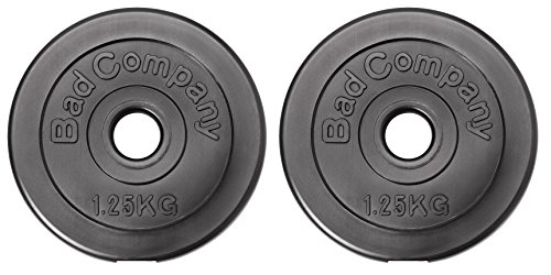 Bad Company Hantelscheiben Kunststoff ummantelt I 30/31 mm I 2 x 1,25 kg