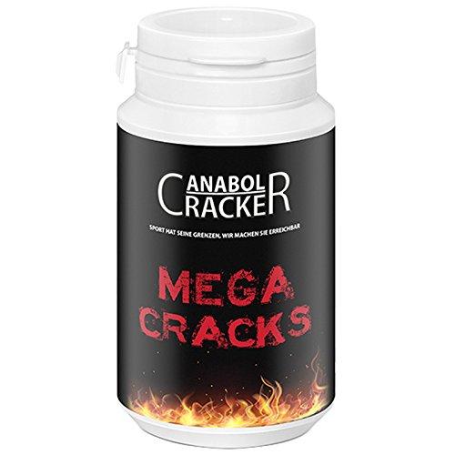 Mega Cracks, Muskelaufbau Anabolika, 90g Dose, Testosteron/Trainings Booster Supplement
