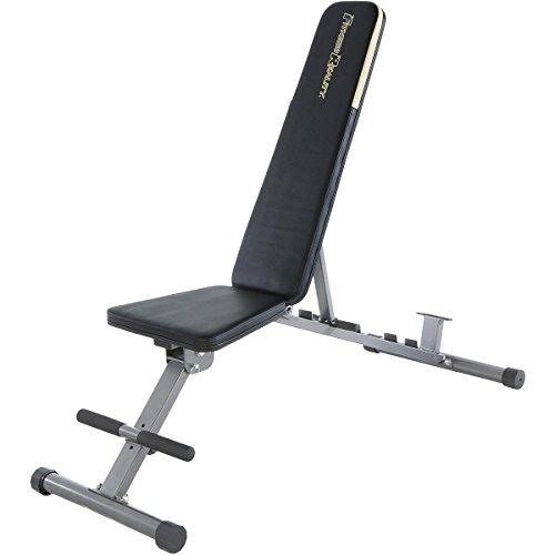 Fitness Reality 1000 Super Max Hantelbank mit 12 verstellbaren Positionen, bis 363 kg belastbar, Multifunktions Fitnessbank für das Training zuhause